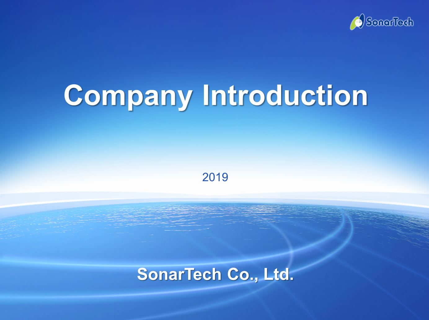 SonarTech Introduction Presentation